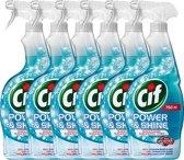 Cif Glas & Ruiten Spray - 6 x 750 ml - Schoonmaakmiddel - Voordeelverpakking