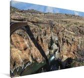 Rotsen bij de Afrikaanse Leiderschapspoort Canvas 140x90 cm - Foto print op Canvas schilderij (Wanddecoratie woonkamer / slaapkamer)