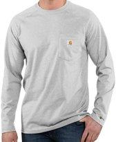 Carhartt Force Cotton L-S Heather Grey T-Shirt Heren Size : XL
