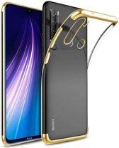 Teleplus Xiaomi Redmi Note 8T Case Luxury Laser Silicone Gold + Nano Screen Protector hoesje