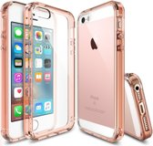 Ringke Fusion Apple iPhone SE Hoesje Doorzichtig Rose Gold