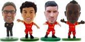 Soccerstarz voetbalpoppetjes LIVERPOOL 4-pack ⚽ Jürgen Klopp ⚽ Philippe Coutinho ⚽ Emre Can ⚽ Sadio Mané