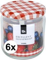 6x Inmaakpot/weckpot 350 ml met draaideksel