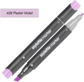 Stylefile Twin Marker - Pastel Violet - Deze hoge kwaliteit stift is ideaal voor designers, architecten, graffiti artiesten, cartoonisten, & ontwerp studenten