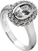 Diamonfire - Zilveren ring met steen Maat 18.0 - Ovaal - 14 mm