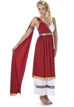 Karnival Costumes Verkleedkleding Kostuum Romeinse Keizerin voor vrouwen Rood Wit - S