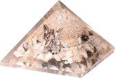 Orgoniet Piramide Regenboog Maansteen & Bergkristal met Engel - Groot