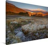 Uitzicht op het landschap bij het Nationaal park Brecon Beacons Canvas 140x90 cm - Foto print op Canvas schilderij (Wanddecoratie woonkamer / slaapkamer)