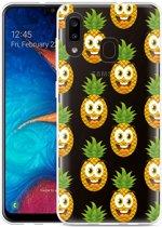 Galaxy A20 Hoesje Happy Ananas
