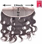 Shri 100% Indian Human Hair 13*4 Frontal Body Wave, 14 Inch, 130% Density
