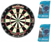Dragon darts - Blue startersset  - Winmau pro sfb - dartbord - plus 2 sets Harrows - dartpijlen