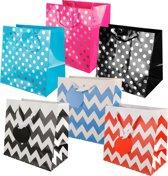 6 stuks - Luxe tas - Geschenktas - Feesttas - Kadoverpakking