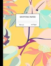 Knitting Paper: Graph Notebook and Journal for Patterns - 4:5 Ratio - 100 pages - Letter Format 8.5''x11'' - Cover Design Code 00044