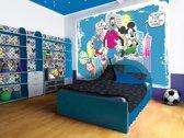 Fotobehang Disney, Mickey Mouse | Blauw | 152,5x104cm