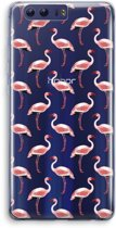 Honor 9 Transparant Hoesje (Soft) - Flamingoprint groen