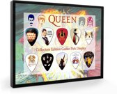 Plectrumdisplay Queen ingelijst