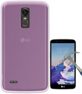 Teleplus LG Stylus 3 Slim Soft Silicone Case Pink + Glass Screen Protector hoesje
