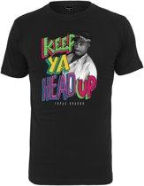 TuPac keep ya head up black T-shirt maat XL
