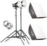 Walimex pro Set 2 Daylight 250S+softbox+tripod apparatuurset voor fotostudio Zwart