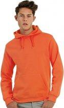 Oranje capuchon sweater M
