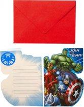 8 Invitations & Envelopes Avengers
