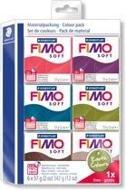 Fimo soft set - colour pack Earth Colours 5 + 1