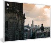 Foto in lijst - Het historische centrum van Mexico-stad fotolijst wit 60x40 cm - Poster in lijst (Wanddecoratie woonkamer / slaapkamer)