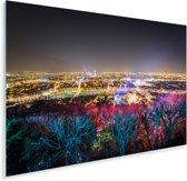 Kleurrijke afbeelding van de Franse stad Lyon Plexiglas 90x60 cm - Foto print op Glas (Plexiglas wanddecoratie)