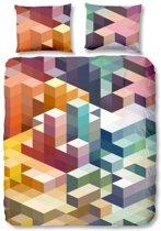 Good Morning Cubes - Dekbedovertrek - Tweepersoons - 200x200/220 cm + 2 kussenslopen 60x70 cm - Multi