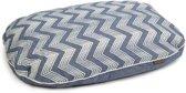 Beeztees Zigzag - Hondenkussen - Blauw - 97x67x10 cm