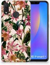 Huawei P Smart Plus Uniek TPU Hoesje Flowers