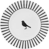 Dutch Rose Streep Petitfour bord - Zwart - Ø 12 cm - 2 stuks
