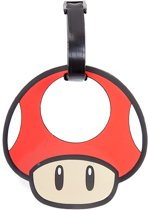 Nintendo - Red Mushroom rubberen kofferlabel multicolours - One size - Super Mario games merchandise