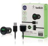 Belkin Autolader met 30-pins naar USB Kabel - 0.9m - 2.1A - Zwart