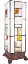 Clayre & Eef Tafellamp tiffany 13x13x35 cm E14/40W