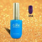 SeaCoral One Step No Wipe Gellak, Gel Nagellak, GelPolish, zónder kleeflaag, UV en LED, kleur 054