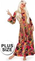 Lange hippie jurk grote maat 44 (2xl)