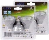 LUCIDE 2x 3 dimbare LED lampen à 7 watt, GU10-fitting, warm wit licht 2700K