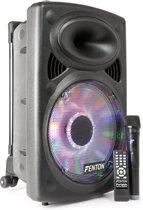 Fenton FPS12 mobiele geluidsinstallatie met o.a. ingebouwde accu, Bluetooth, USB / SD mp3