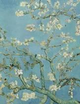Almond Blossom, Vincent Van Gogh. Graph Paper Journal