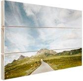 Noors landschap  Hout 60x40 cm - Foto print op Hout (Wanddecoratie)