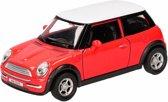 Speelgoed rode Mini Cooper auto 12 cm - modelauto / auto schaalmodel
