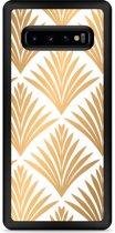 Galaxy S10 Plus Hardcase hoesje Art Deco Gold
