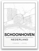 Poster/plattegrond SCHOONHOVEN - A4