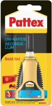 Pattex Gold Gel Secondelijm - GEL = NIET DRUIPEN - 3 Gram  Transparant