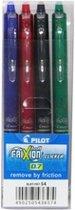 Pilot Frixion Clicker Balpennen - Zwart Blauw Rood Groen - 4 stuks