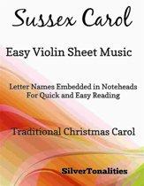 Sussex Carol Easy Violin Sheet Music