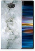 Sony Xperia 10 Uniek TPU Hoesje Painting Grey
