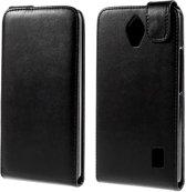 Huawei Ascend Y635 flip tasje hoesje zwart hoesje