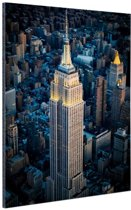 Empire State Building Manhattan NY Aluminium 40x60 cm - Foto print op Aluminium (metaal wanddecoratie)